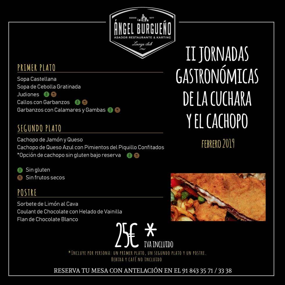 menu restaurante pedrezuela angel burgueño